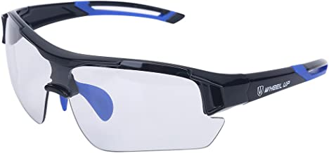 Tbest Unisex Photochromic Sunglasses,Windproof UV Protection Bike Glasses Photochromic Safety Glasses Polarized for Outdoor Sport Mountain Cycling Motocycle Driving Hiking Fishing (Blue)