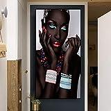 N / A Schwarzafrikanische Frau Lippen und Nägel Poster und
