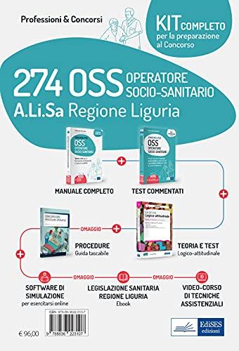 Kit concorso 274 OSS Alisa Liguria. Con e-book. Con software di simulazione. Con videocorso