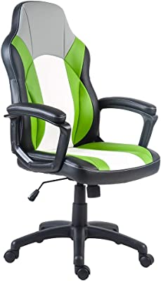 Merax Stylish Ergonomic Office Chair Swivel Racing Style Gaming Chair PU Leather Computer Desk Chair Executive