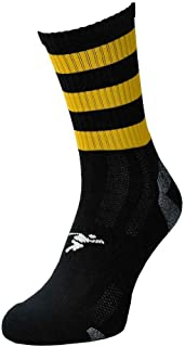 ND Sports, Precision Sports Calcetines Junior Mid Pro con aro negro/ámbar J12-2