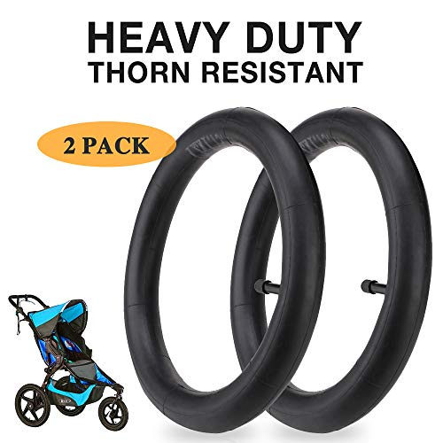 12.5'' x 1.75/2.15 Front Wheel Replacement Inner Tubes For Bob Revolution Stroller (SE, Flex, Pro, CE, AW), Single & Double Strides Stroller - Heavy Duty Thorn Resistant Inner Tire Tube (2-Pack)