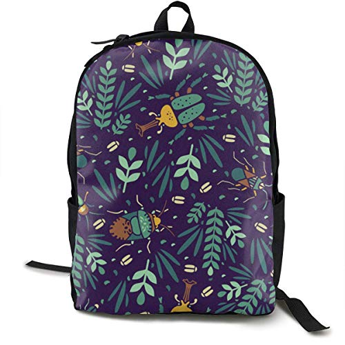 Casual Backpck Big Capacity Anti-Diebstahl Mehrzweck-Rucksack Backpack for Sports Outdoors Running - Insect Beetle Art, Boys Girls Gift, Reisen Hiking Camping Rucksack