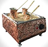 Máquina de café con arena de cobre, 3 cafeteras y 100 g de café turco