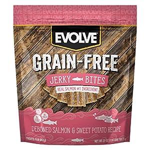 Evolve Grain Free Deboned Salmon and Sweet Potato Jerky Bites Dog Treats