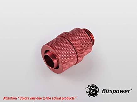 "G1/4"" Deep Blood Red Rotary Compression Fitting CC2 V2 For ID 3/8"" OD 1/2"" Tube"