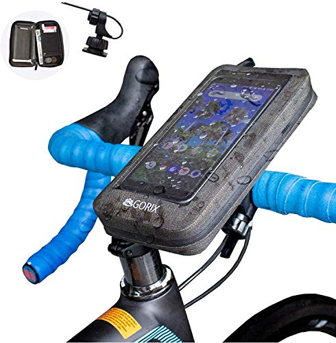GORIX(ゴリックス) 自転車 防水 スマホホルダー ハンドルポーチ タッチパネル対応 汚れに強い サイクルポー...