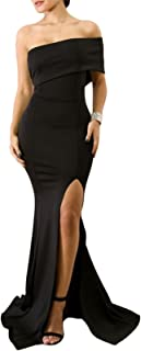 Womens Off The Shoulder Party Dresses One Sleeve Slit...