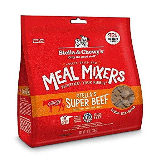 Stella & Chewy's Freeze-Dried Raw Stella's Super Beef Meal Mixers Dog Food Topper, 8 oz. Bag