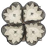 Arredamento Etnico Antipastiera Piatto Ceramica Terracotta Marocchina 1705211001