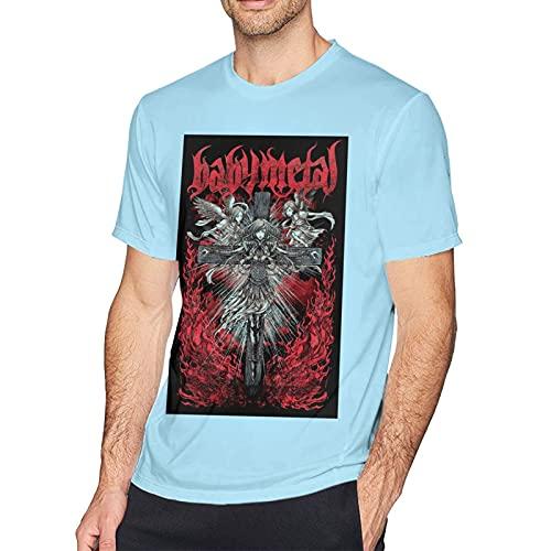 Babymetal T Shirt Sky Blue 6XL Men T-Shirt aus Baumwolle für Herren Kurzarm Männer Tshirt Rundhalsausschnitt