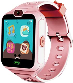 Fan-Ling Children's Phone Smart Watch Mobile Phone Waterproof Touch Screen,Multifunction Smartwatch,Camera, SOS, Alarm Clock (Pink)