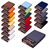 Topper Spannbettlaken/Laken F. BOXSPRINGBETT-Topper - 100% Feinste Mako-Baumwolle - 19 Farben - Sehr Gute ca. 170 g/m² (180x200-200x220 dunkelgrau 19)