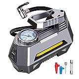 DJG Compressore d'Aria Portatile del gonfiatore della Gomma con Digital gonfiaggio Manometro-Veloce, istantaneo Display Pressione, per Auto, Biciclette, Moto,Mechanical