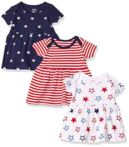 Amazon Essentials Girls' Baby 3-Pack Dress