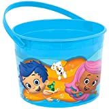 amscan Lovely Bubble Guppies Blue Plastic Birthday Party Favour Container Toy and Prize, 4' x 6'.