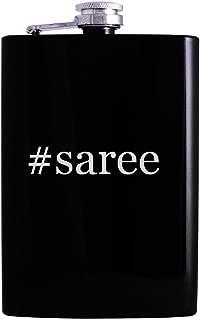 #saree - 8oz Hashtag Hip Alcohol Drinking Flask, Black