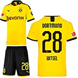 PUMA Borussia Dortmund BVB Heimset 2019 2020 Home Kit Trikot Shorts Kinder Axel Witsel 28 Gr 176