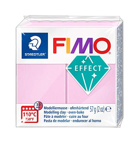 STAEDTLER FIMO Effect 8020-205 Oven Hardening Modelling Clay, 57 g - Pastel Rose, 1er Pack