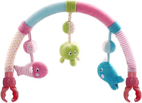 Jouets Poussette Suspendus Chantant bébé Arche Poussette bébé activité Tissu Animal Jouet Jouet pour bébé avec Poussette