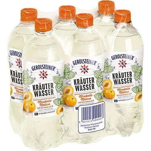 12 Flaschen Gerolsteiner Kräuterwasser Mirabelle-Melisse PET inc. 3,00€ EINWEG Flasche