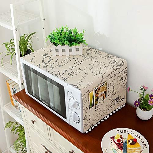 Copertura antipolvere per forno a microonde, accessorio protettivo per forno a microonde, decorazione per la casa, panno anti-olio per forno Jis Lettere