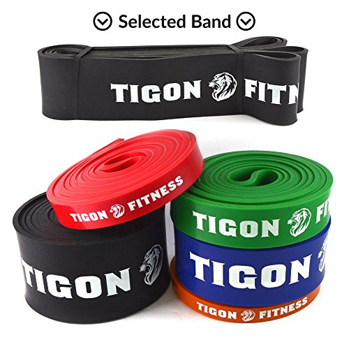 Buy Bargain Exercise Bands Best for Resistance Workout from Tigon Fitness. Choose your Band for Pull...