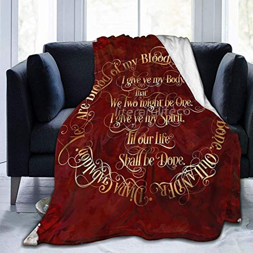 jichuang Flannel Fleece Outlander Wedding Vows Blanket Suitable for Sofa Micro Fleece Blankets for Adults and Children Bed Blankets 60' x80