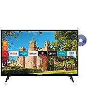 Telefunken XF32J519D 32 inch televisie (Smart TV incl. Prime Video/Netflix/YouTube, Full HD, DVD-speler, Bluetooth, Works with Alexa, Triple-Tuner) [Modeljaar 2021]