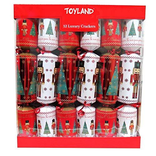 Toyland® Packung mit 12 großen Weihnachtscrackern für Luxus-Soldaten - ca. 33 x 5 cm