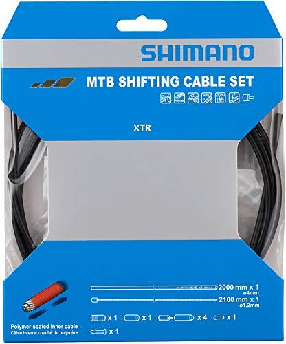 SHIMANO ShimanoY01V981124550170388980, Kit Filo Cambio Polymer MTB Blk Unisex Adulto, Nero, unica