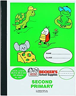 Becker's School Supplies Second Primary Composition Book, Sewn, (Pack of 12)