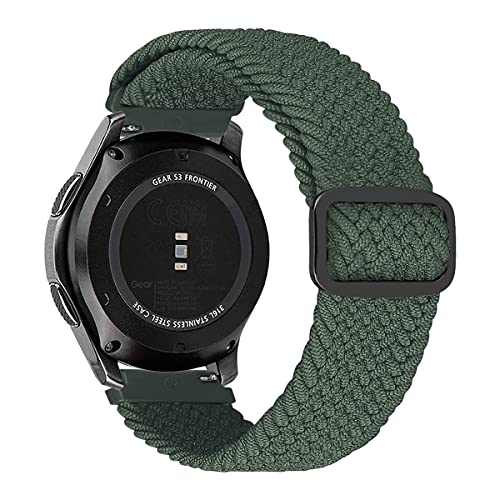 MroTech Compatible con Huawei Watch GT 2 46 mm/GT 2e/GT2 Pro Correa Nailon 22mm Pulseras Repuesto para Samsung Galaxy Watch3 45mm/Gear S3 Frontier/Galaxy 46mm Banda Hebilla Ajustable-elástica Verde