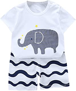 Zrom Baby Boys and Girls Clothing Set,0-5 Years Toddler Boys Baby Kids Girls Summer Cartoon Tops+Shorts Outfit Set Clothes