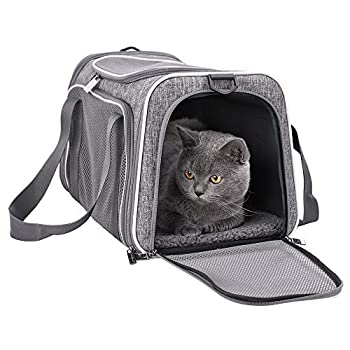 petisfam Top Load Cat Carrier for Medium Cats Collapsible and Escape Proof