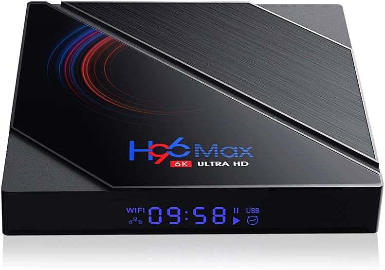JIAXIAO Smart TV Box,2.4G/5GHz Dual WiFi Bluetooth Multimedia Player 6K Quad Core Android 10.0 Video Equipments WiFi Media Player Set(B-EU Plug)