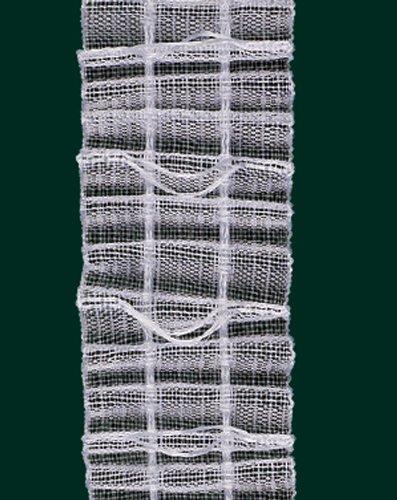 Ruther & Einenkel Raffrolloband Falte an Falte, 23 mm, volltransparent, VAR. / Aufmachung 10 m