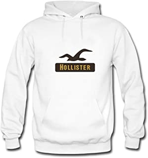 adsfnagogoty66 Mens Hoodies Hollister Logo White Size M
