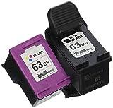 VersaInk-Nano HP 63 MS Black MICR Ink Cartridge for Check Printing & 63 CS Color Cartridge