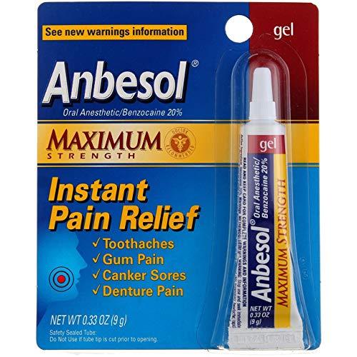 Anbesol Gel Maximum Strength 0.33 oz (Pack of 2)