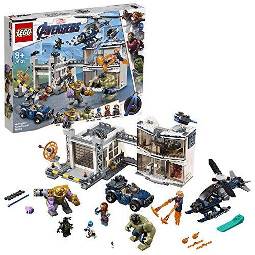 Questo set di gioco con super eroi include 4 minifigure dell'Universo Marvel: Iron Man, Captain Marvel, Nebula e un Outrider a 4 braccia, più le big figures di Hulk e Thanos e il micro-personaggio di Ant-Man Questo giocattolo costruibile contiene il ...