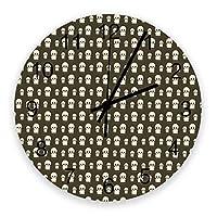 掛け時計 ハロウィン 幽霊 壁掛け時計 掛時計 静音 clock サイレント 壁時計 部屋 リビング 玄関 インテリア コンパクトサイズ 電池式 木掛け鐘 大数字 円形 贈り物 直径 30cm