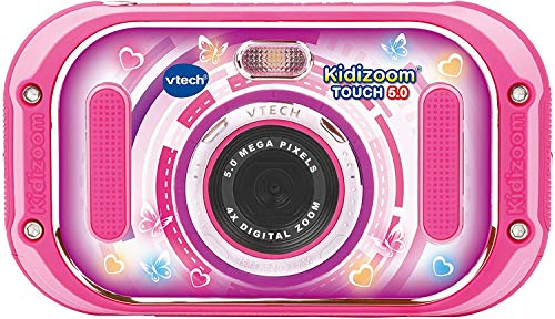 VTech 80-163554 Kidizoom Touch 5.0 pink Kinderkamera Digitalkamera für Kinder Kinderdigitalkamera, Mehrfarbig