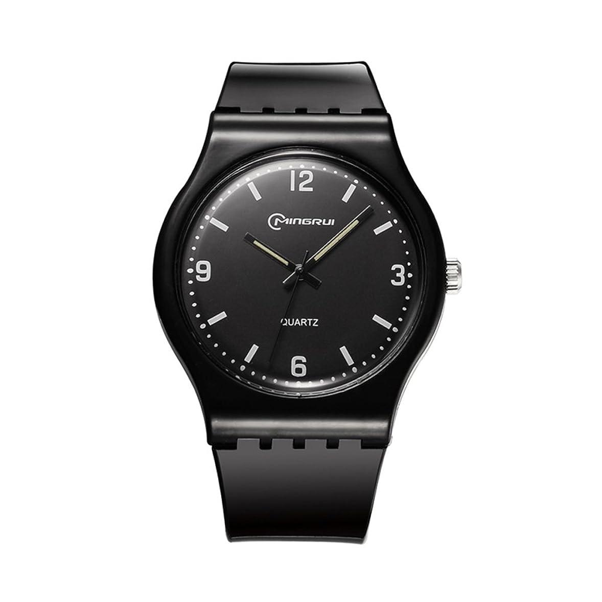 そんなにシェフ引き受ける[子]クオーツ腕時計、学生レジャー防水時計ラウンドゴムピンバックルstrap-t