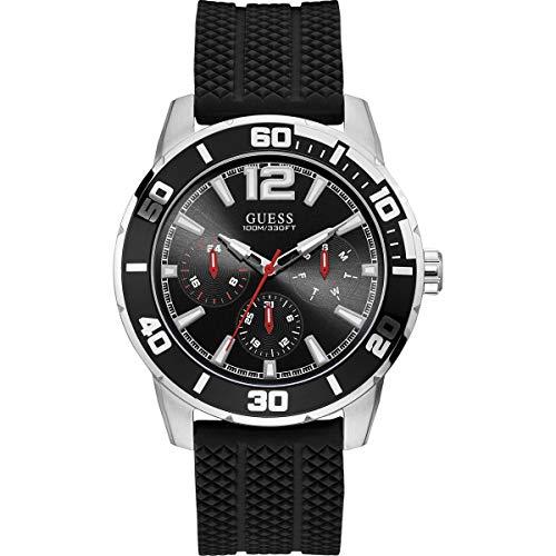 Guess Reloj analógico para de Cuarzo con Correa en Silicona W1250G1