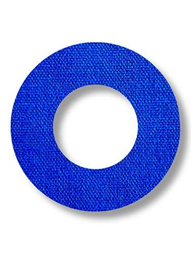 FixTape atmungsaktive Sensor-Tape-Ringe für Freestyle Libre 1 & 2 I runde selbstklebende Patches mit Loch für Glukose-Sensor I hoher Trage-Komfort I hautfreundlich wasserfest I 7 Stück (Blau)