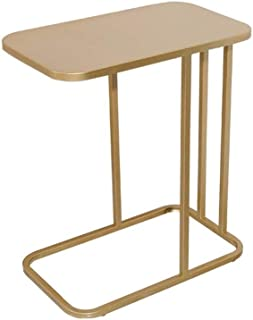 WZHZJ Lron Tea Table Simple Modern Creative Sofa Side Table Living Room Small Storage Square Coffee Table