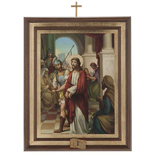 Holyart Cuadros Via Crucis Madera Similar Pintura 15 Estaciones