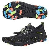 SAGUARO Zapatos Verano de Agua de bebé Niños Secado rápido para Playa Piscina Natación Negro Gr.28