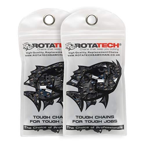 2 x (Zwei) Rotatech Ketten für Kettensäge geeignet für Timberpro 62cc 50cm